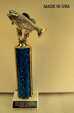 "BASS FISHING 12"" TROPHY AWARD FREE ENGRAVING SHIPS 2 DAY MAIL"