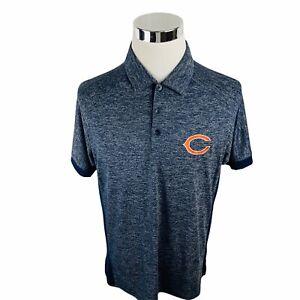 Chicago Bears NFL Antigua Blue Short Sleeve Polo Shirt Men's Large L
