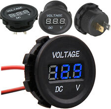 12V-24V Motorcycle Car LED Digital Voltmeter Waterproof Volt Panel Meter Gauge