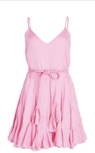 RHODE Casey  ruffled cotton-voile mini dress