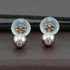 Genuine 18CT RG Diamond Ball Studs Earrings 4mm - 1 Pair