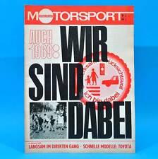 DDR Illustrierter Motorsport IMS 6/1969 Toyota 1600 2000 GT Rallye Elbflorenz R