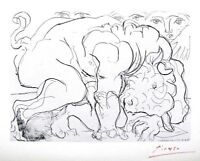 PABLO PICASSO HAND SIGNED SIGNATURE * SUITE VOLLARD * LITHOGRAPH