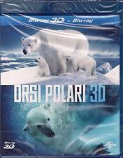 Blu-ray 3D + Blu-ray 2D **ORSI POLARI 3D** nuovo sigillato 2012