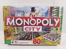 Monopoly City 3-D Buildings Board Game by Hasbro 2009 Complete
