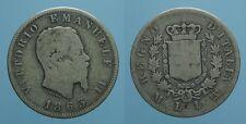 REGNO D'ITALIA VITT.EMANU.II 1 LIRA 1863 MILANO-STEMMA B-MB