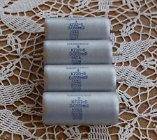 Russian K72 Teflon capacitors, 0.056uF. Lot of four (4).