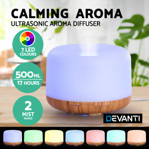 Aroma Diffuser Humidifier Aromatherapy Essential Oil Purifier Night Light 500ml