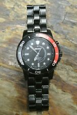 Seiko Kinetic 100 Quartz Chronograph Watch 5M62-OBPO Red Black Bezel