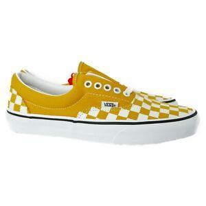 VN0A38FRVLY1 Vans Era Checkered (Yolk Yellow/White) Men Sneakers Size 10