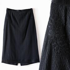 ROCHAS black embroidered Pencil dress skirt sz. 36 $1,250