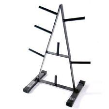 "weight Tree CAP Barbell Plate Rack 1"" standard holder storage Rack Black Fitness"