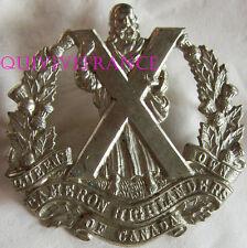 dIN076 - WWII QUEEN'S OWN CAMERON HIGHLANDERS OF CANADA CAP BADGE