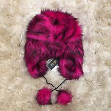 Juicy Couture Faux Fur Hot Pink Trapper Hat