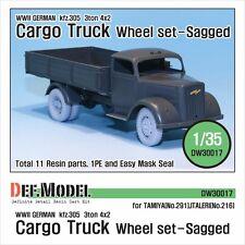 DEF. Model, DW30017, WW2 Allemand 3 T Cargo Truck Wheel Set for tamiya, italeri, 1:35