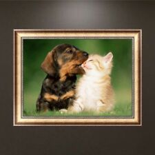 Dog and Cat DIY 5D Diamond Embroidery Animal Painting Cross Stitch Home Decor