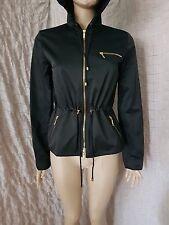Celine black nylon and cotton hoodie shiny look jacket size 40