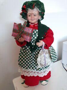 "Holiday Creations Vintage.1994  Mrs Santa Clause Doll 16"" tall."