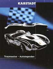 Karstadt Prospekt Modellautos 1:18 2000 (D) BMW V12 LMR Z8 Audi TT R8R Maranello