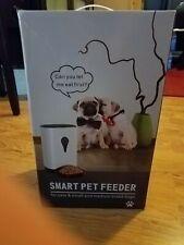 New listing Smart Pet Feeder WiFi Automatic Dog Cat Food Feeder 4.5L Works with Alexa Google