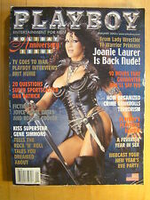 Original Playboy Magazine January 2002 Joanie Chyna Laurer Nicole Narain