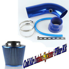 75mm 3 inch Short Style Cold Air Intake System + Filter Kit Blue Universal