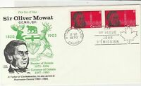 Canada 1970 Sir Oliver Mowat Crested FDC Ottawa Cancel Stamps Cover ref 21996