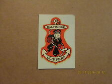 Ahl Baltimore Clippers Vintage Defunct Logo Water Decal