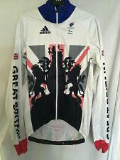 NEW XL Adidas Team GB sky rain coat cycling bike jacket RIO 2016 olympics paraly