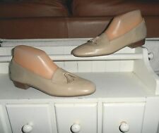 NEW* Sz 8.5AAA SELBY; Beige Leather; Tassel Accents; Slip-On Loafer Style Shoes