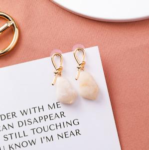 Gemstone Sailing-Knot Style Stud Earrings 925 Silver Women Jewellery Gift