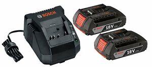 BOSCH BAT612-RT 2 Pack 18 Volt Li-Ion 18V Batteries & BC660-RT Battery Charger