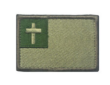 cross Christ Badge USA MILITARY ISAF TACTICAL MORALE HOOK & LOOP Patch