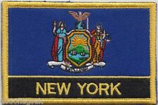 New York State USA Flag Embroidered Patch Badge - Sew or Iron on