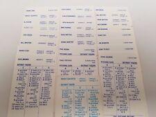 1961 Detroit Tigers Strat-O-Matic Baseball 26 OG Player Cards Clean