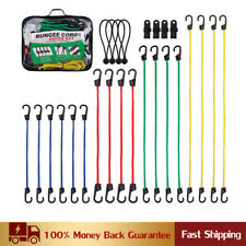 "26 Pieces Bungee Cords With Hooks 40"" 32"" 24"" 18"" Heavy Duty Bungie Cord Set"