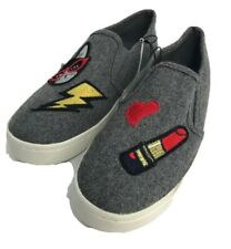 CHARMING CHARLIE COOL PATCHES SLIP-ON SNEAKERS Shoes Sz 8