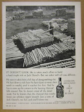 1967 Jack Daniel's Whiskey ricker building maple ricks photo vintage print Ad