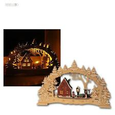 LED Candle Arches Village Illuminated Arch Window Lights Wooden, 10 Leds Warm