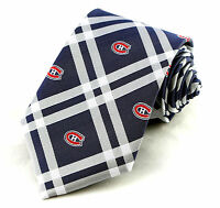 Montreal Canadiens Men's Neck Tie Licensed NHL Ice Hockey Sports Blue Necktie