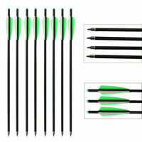 20 Inch Carbon Crossbow Bolts Arrows Field Point Moon Nocks Hunting Target 12Pcs