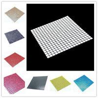 Mosaic Aluminum Backsplash Wall Tile Self Adhesive Peel and Stick Kitchen 30cm