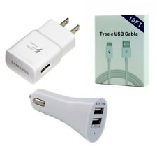 CAR+SAMSUNG FAST ADAPTER+10 FEET TYPE C USB FOR SAMSUNG GALAXY NOTE 8, NOTE 9