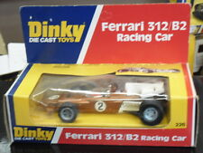 Rara Vintage Dinky 226, Ferrari 312/B2,FI, coche de carreras, propiedad de nuevo, menta en caja