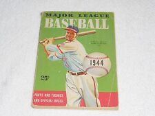 1944 Major League Baseball Facts & Figures & Official Rules WHITMAN/DELL ORIG PB