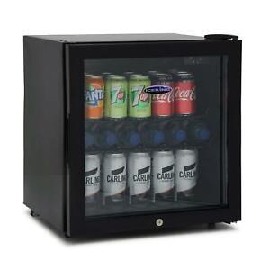 IceKing DF48K 48 Litre Table Top Mini Fridge Drinks Chiller, Glass Door Black