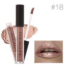 FOCALLURE Metallic Metal Lipstick Lip Gloss Liquid Matte Makeup Cosmetic New