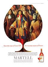 "1966 Louis XIV & Court art ""Reigning Cognac"" Martell Brandy promo print ad"