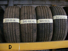 205 55 16 tyres PART WORN 6MM FITTED AND BALANCED