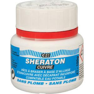 Décapant - PATE À BRASER ET ÉTAMER SHERATON - Pot de 150 g -  GEB